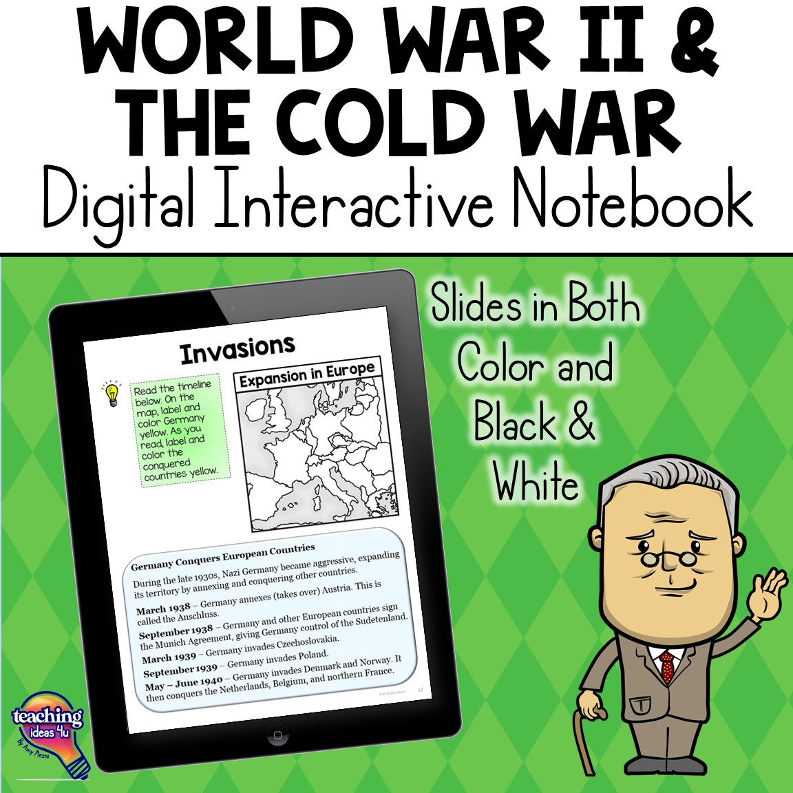 World War 2 Amp The Cold War Digital Interactive Notebook Us