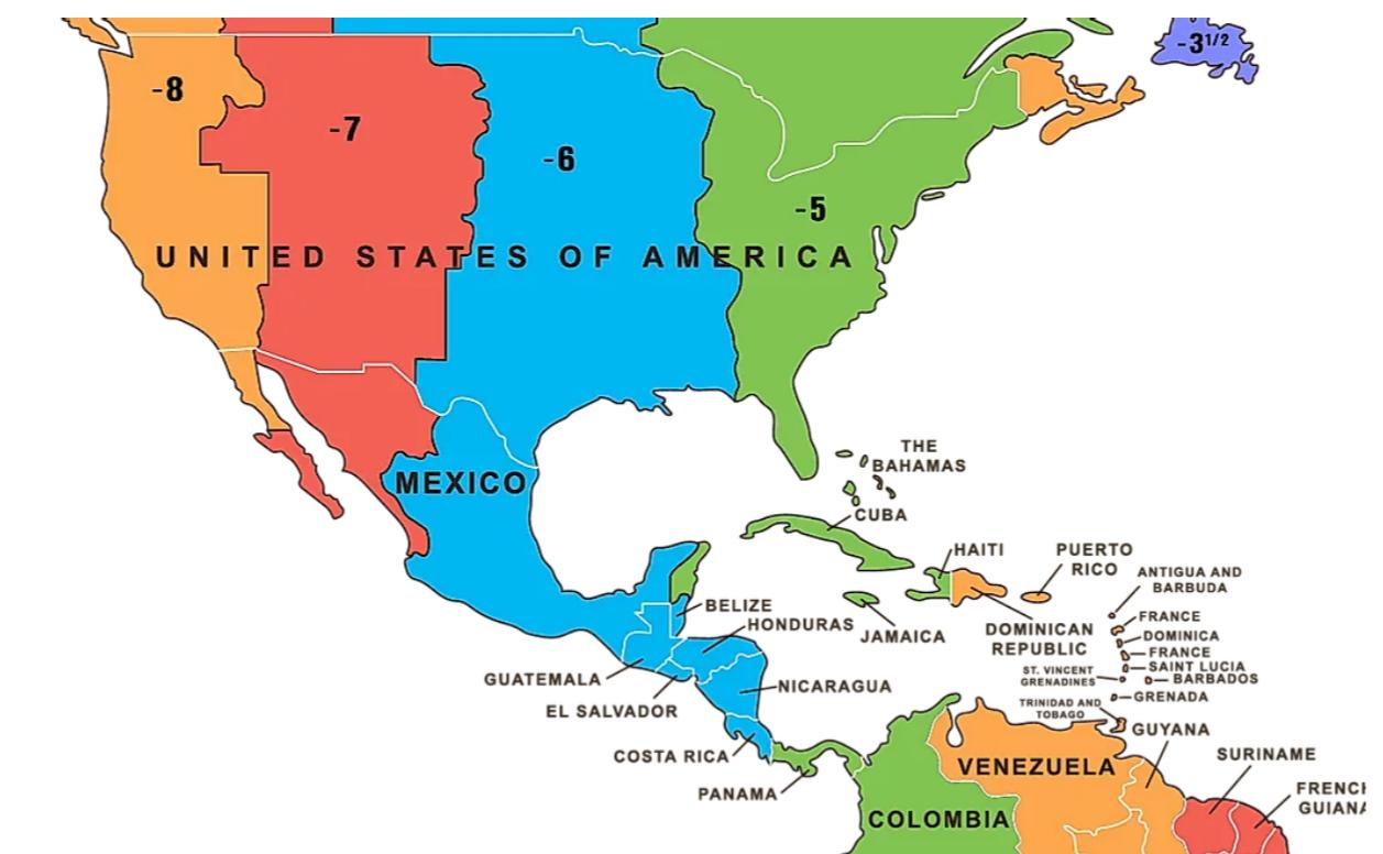 05/07/2021· us time zone map by law is divided into 9 time zones covering the states, territories, and other us possessions, with most of the united states observing daylight saving time. Time Zones In Central America Q Costa Rica
