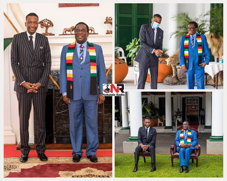 After spending US$1m in coronavirus relief aid, distributing food with the help of MDC and Zanu PF MPs across the country last year, Prophet Uebert Angel has been appointed Presidential Envoy and Ambassador at Large by President Emmerson Mnangagwa and sworn in today at State House.