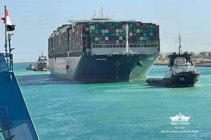 With ship now freed, a probe into Suez Canal blockage begins (Picture via Suez Canal Authority / Facebook)
