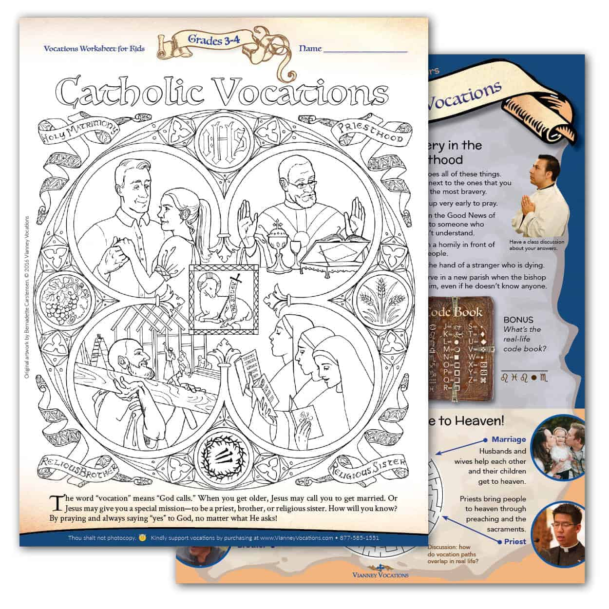 hight resolution of Vocations Worksheet for Kids - Grades 3-4 - Vianney Vocations