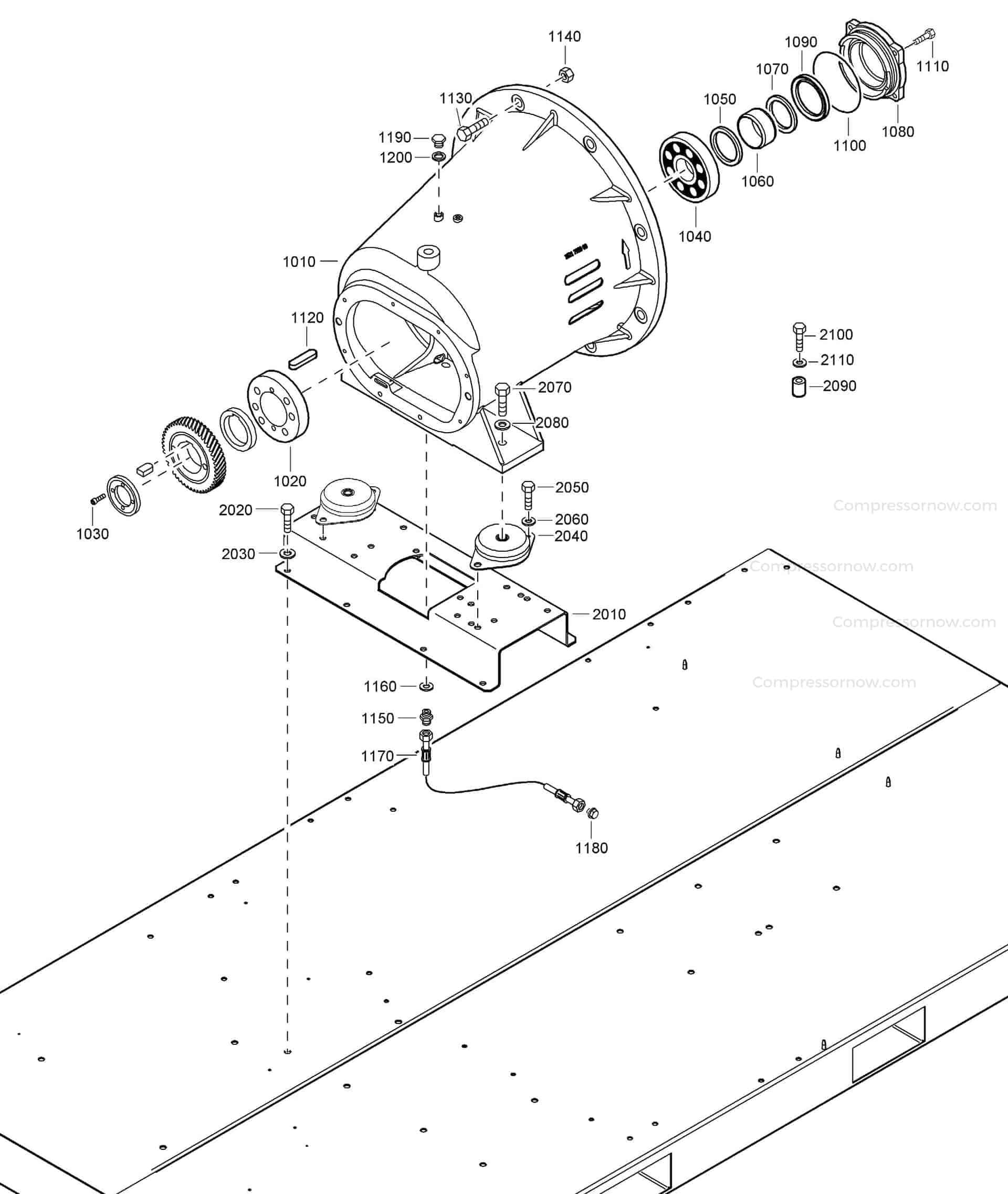 Atlas Copco GEARBOX CASTING Part 1621 7939 00