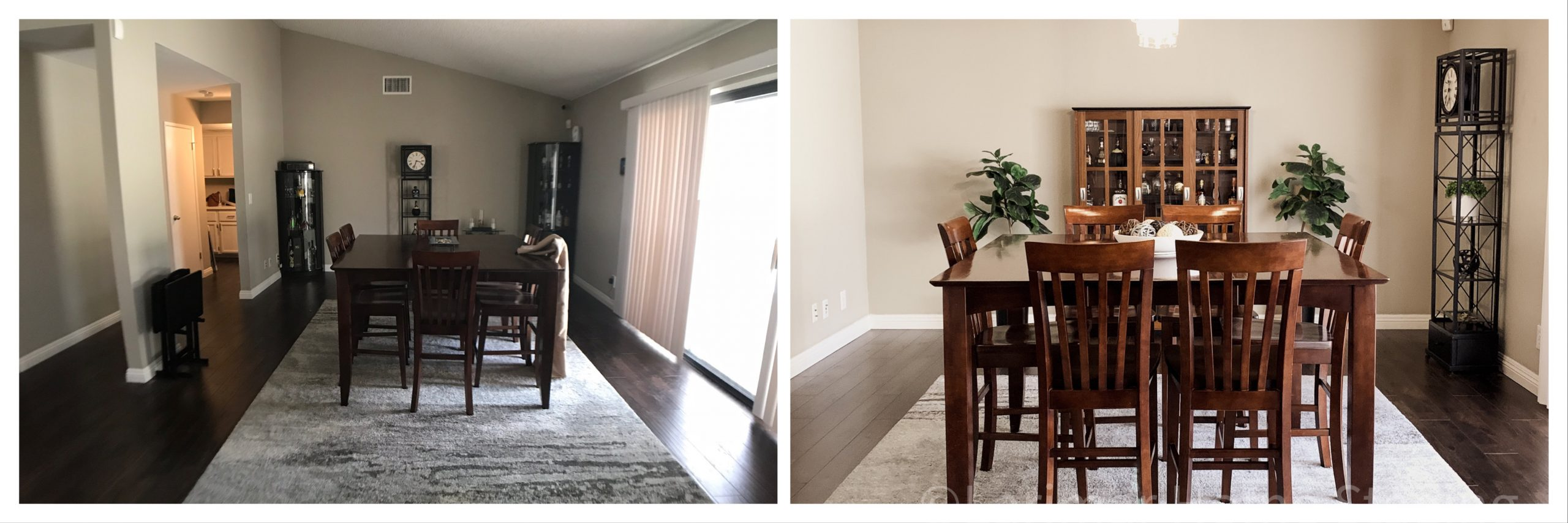 Occupied Home Staging Before and After