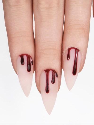 Cute Halloween nails - bloody nails