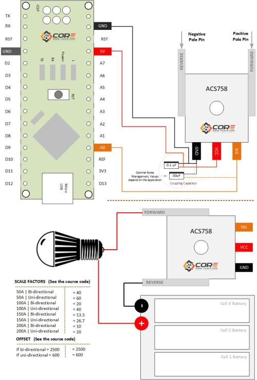 small resolution of acs758 ac dc current sensing arduino