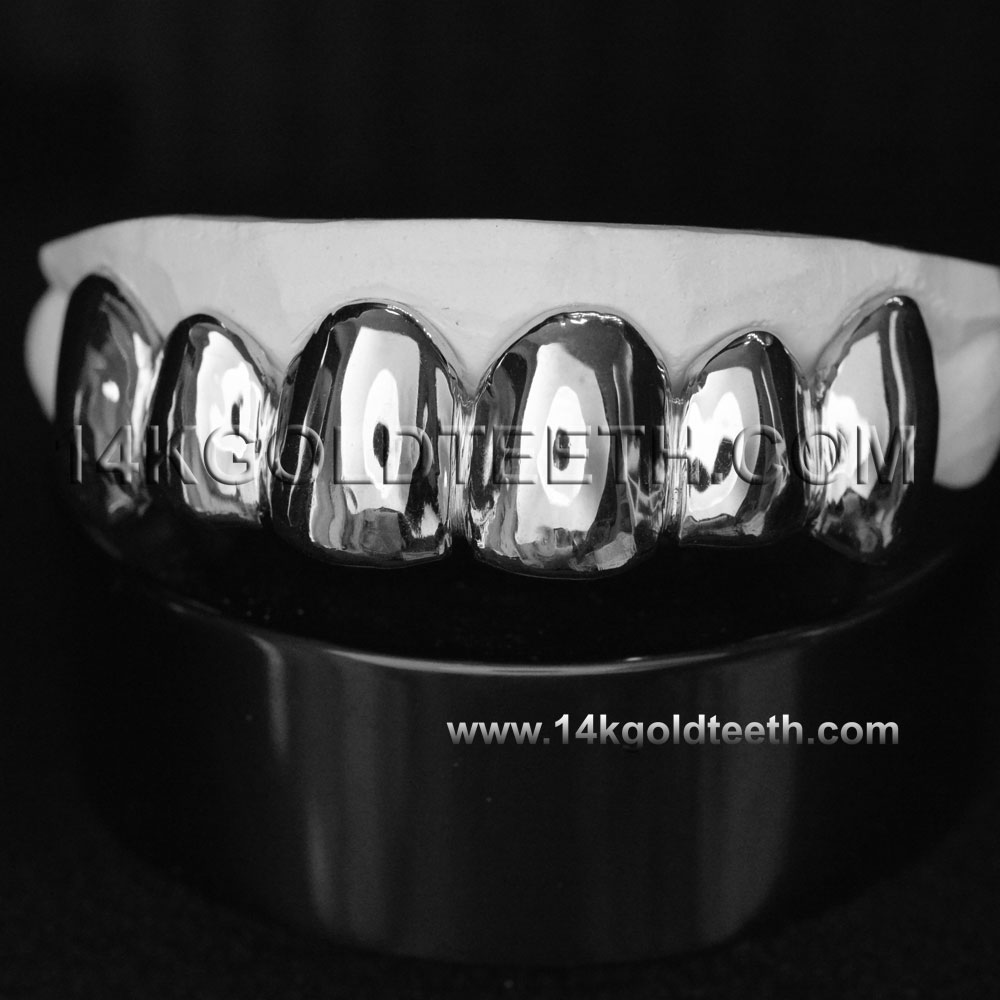 Top White Gold Teeth Grillz - TW 10201