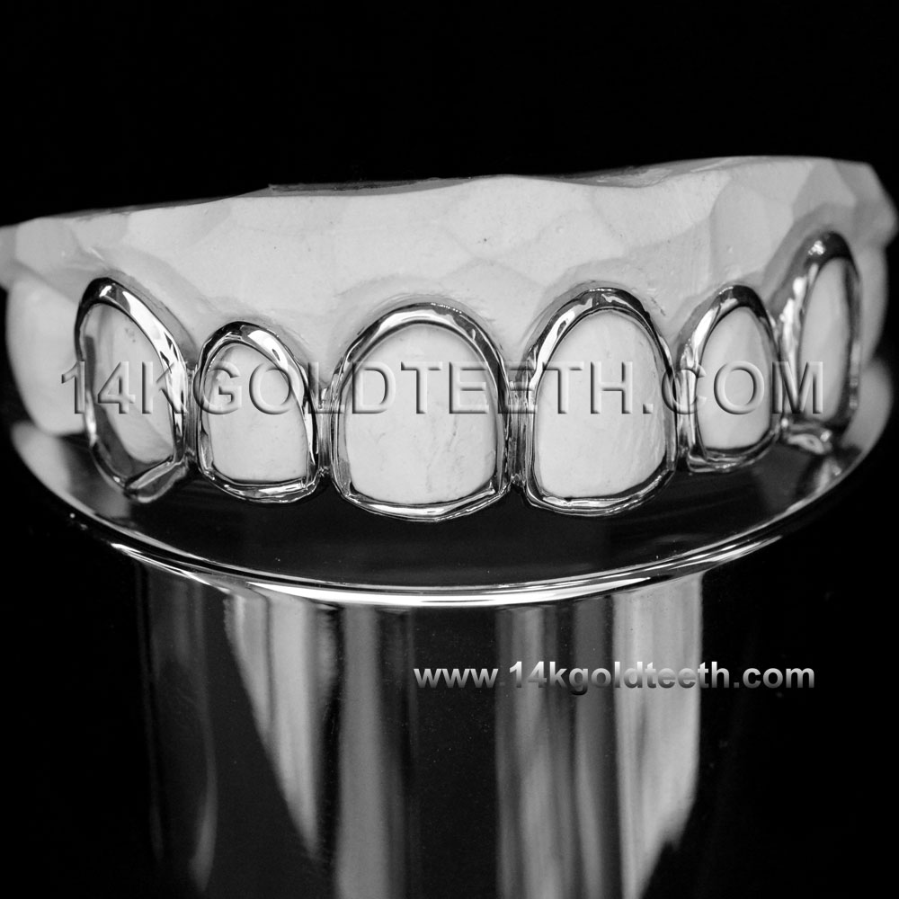 Top White Gold Teeth Grillz - TW 10204