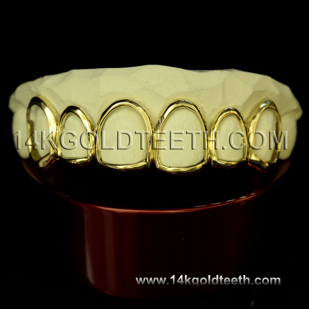 Top Yellow Gold Teeth Grillz - TY 10020