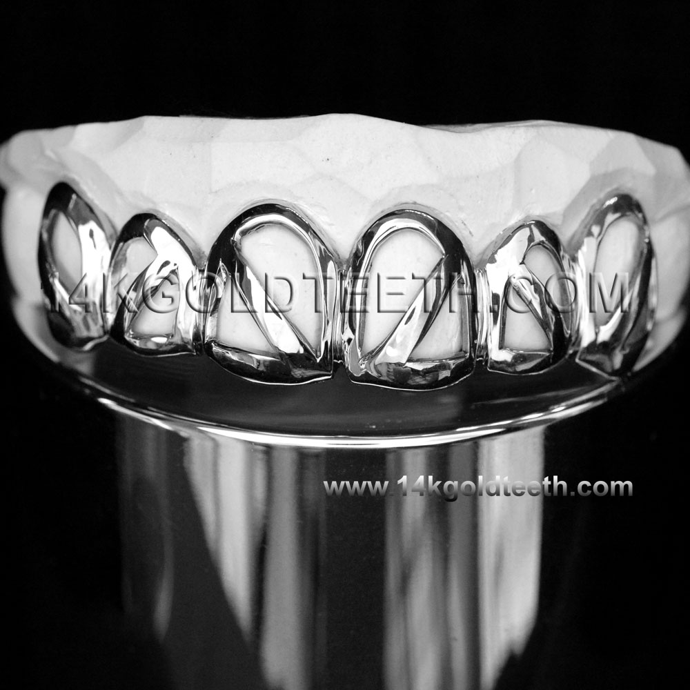 Top Silver Grillz - TS 10324