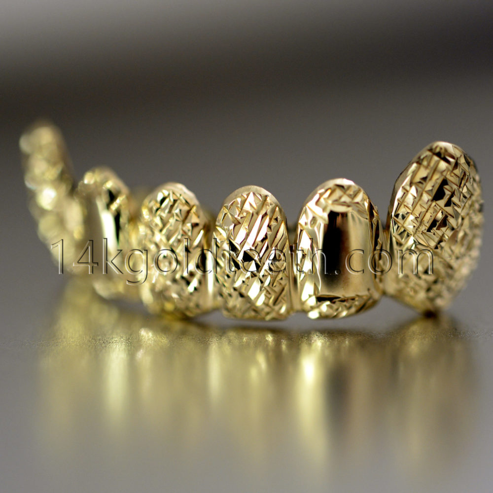 Bottom Yellow Gold Teeth Grillz - BY 20016