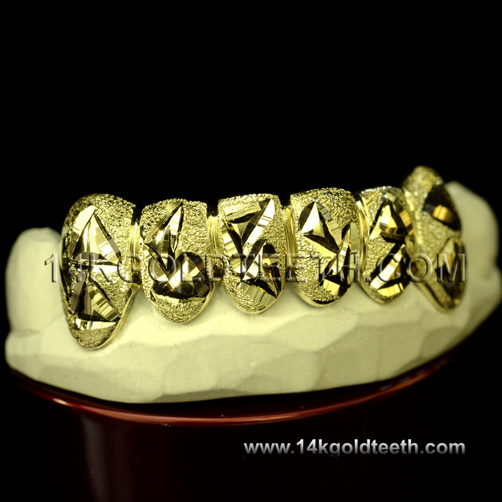 Bottom Yellow Gold Teeth Grillz - BY 20023