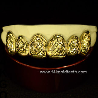 Top Yellow Gold Teeth Grillz - TY 10014