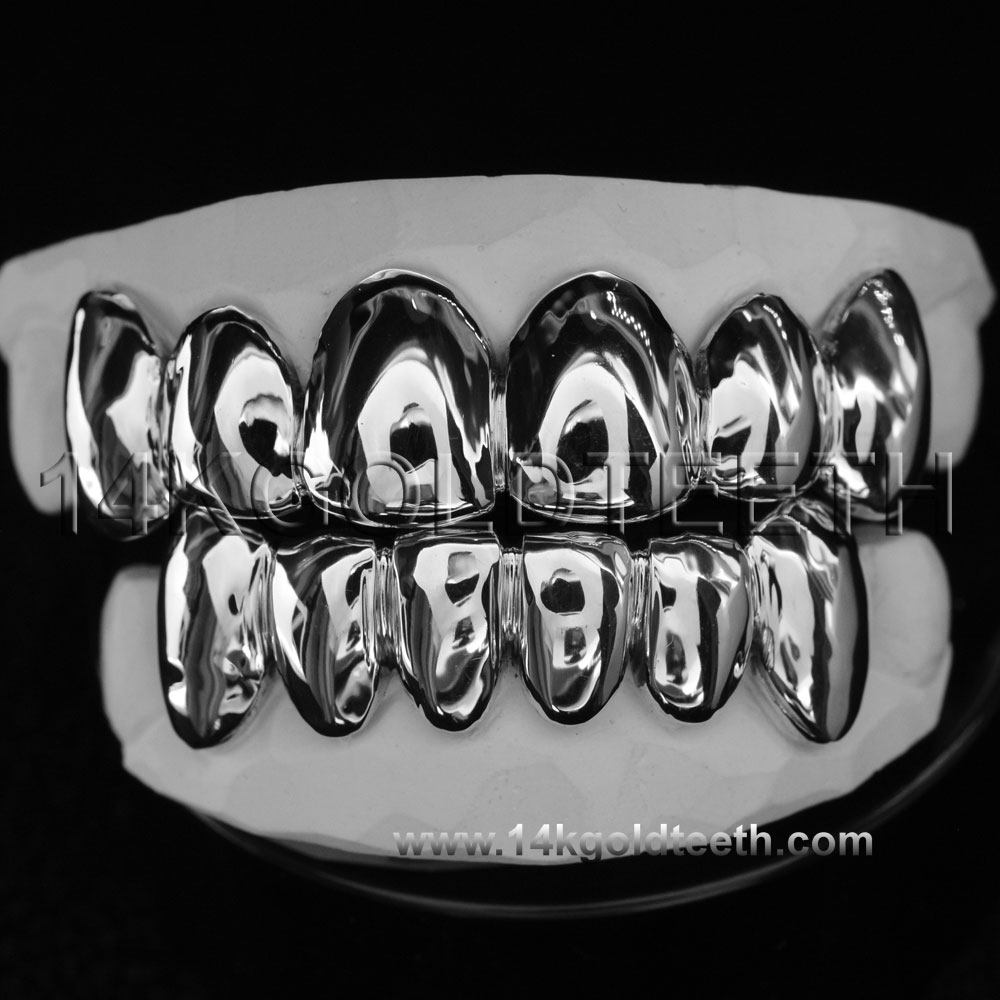 Top & Bottom Silver Grillz - TBS 30307