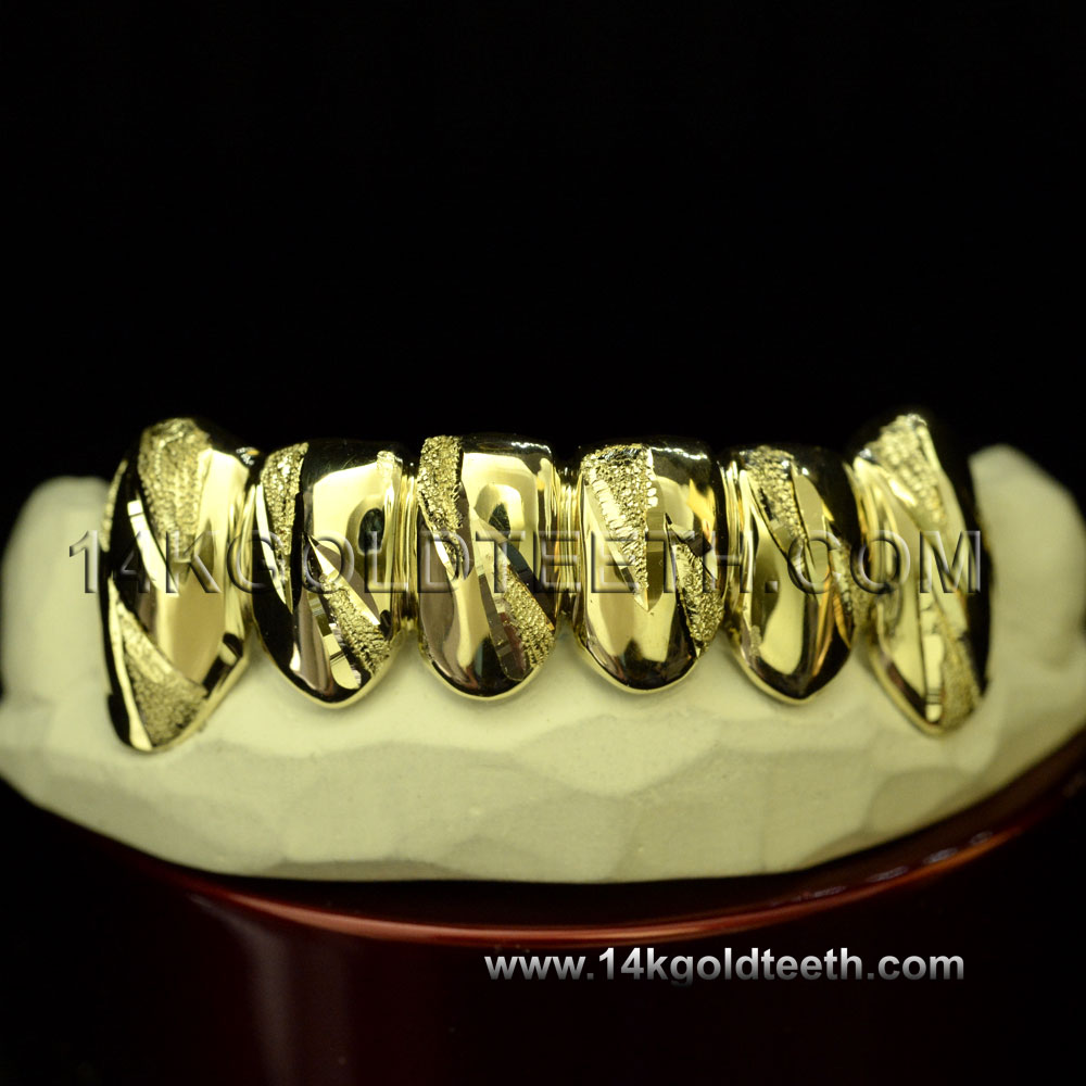 Bottom Yellow Gold Teeth Grillz - BY 20007