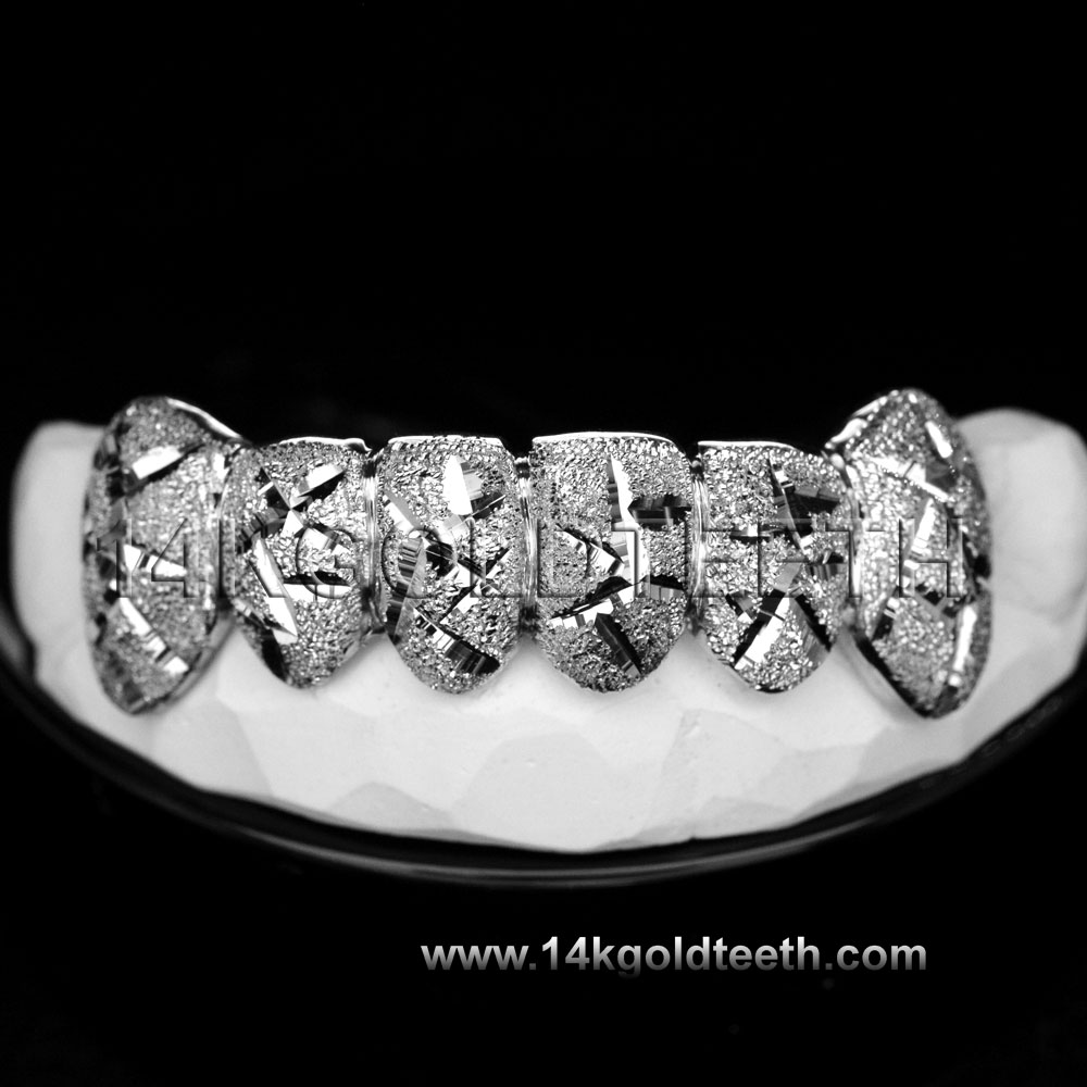 Bottom White Gold Teeth Grillz - BW 20201