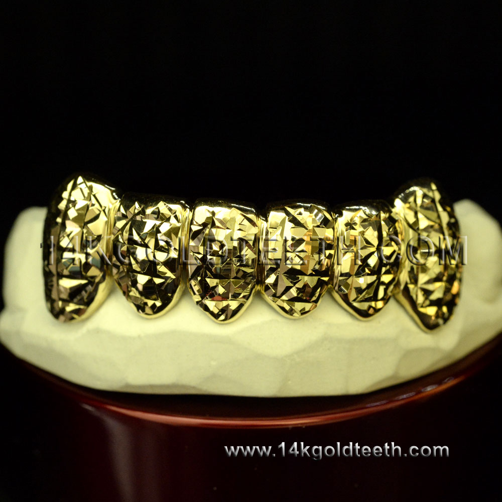 Bottom Yellow Gold Teeth Grillz - BY 20003