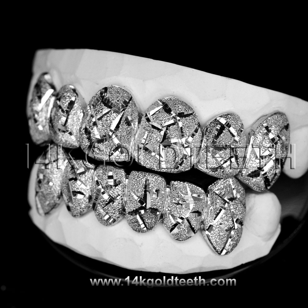 Top & Bottom Silver Grillz - TBS 30309