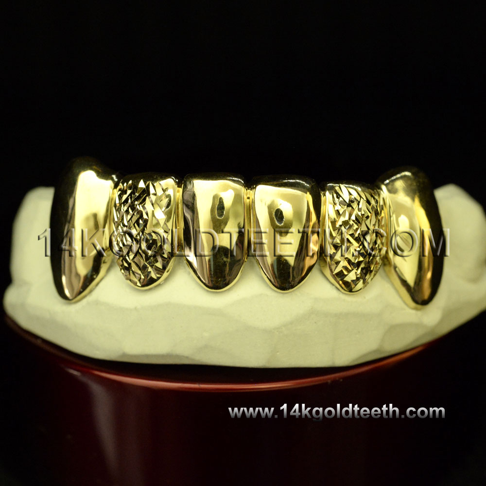 Bottom Yellow Gold Teeth Grillz - BY 20020