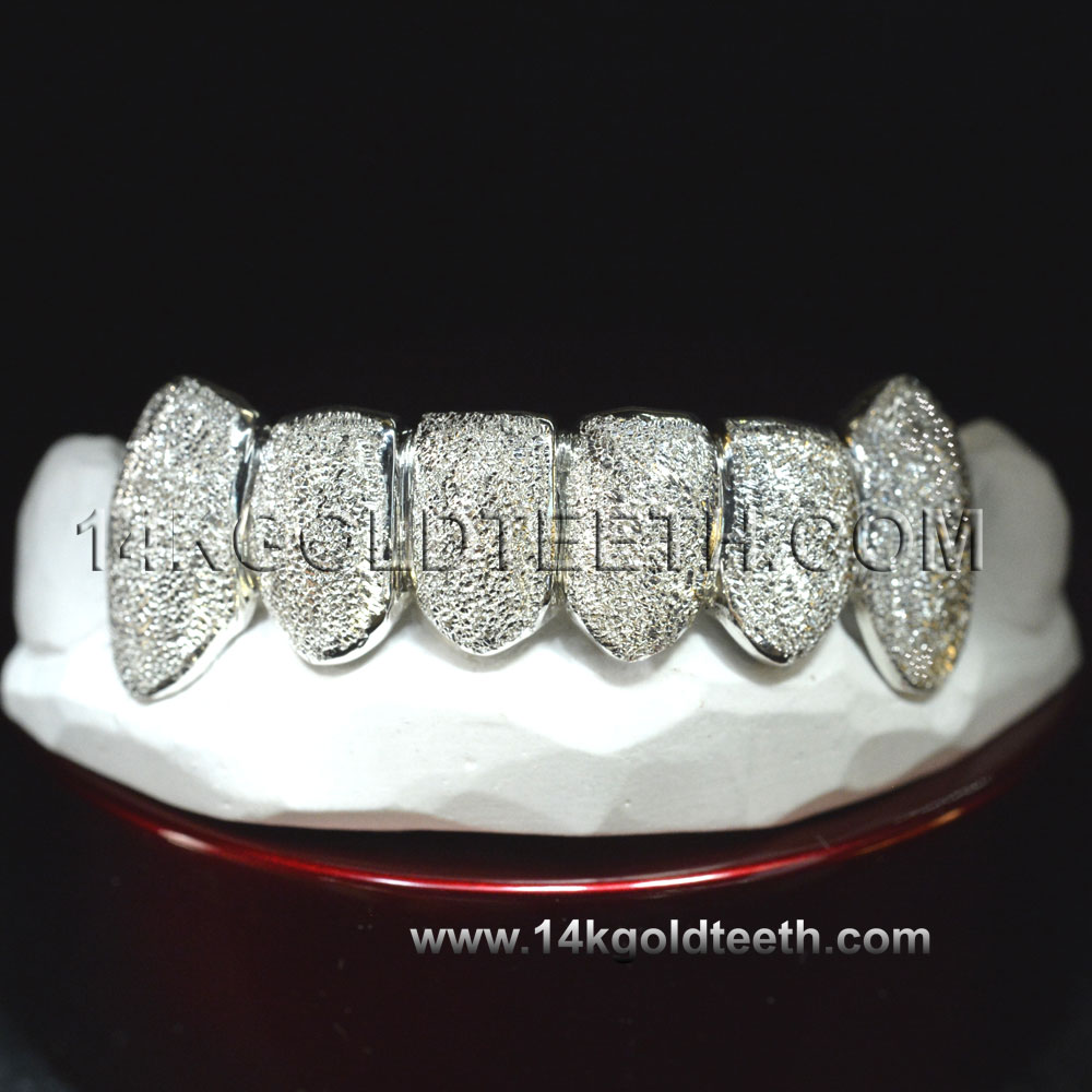 Bottom White Gold Teeth Grillz - BW 20202