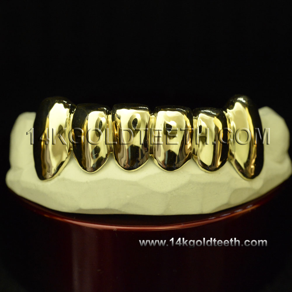 Bottom Yellow Gold Teeth Grillz - BY 20001