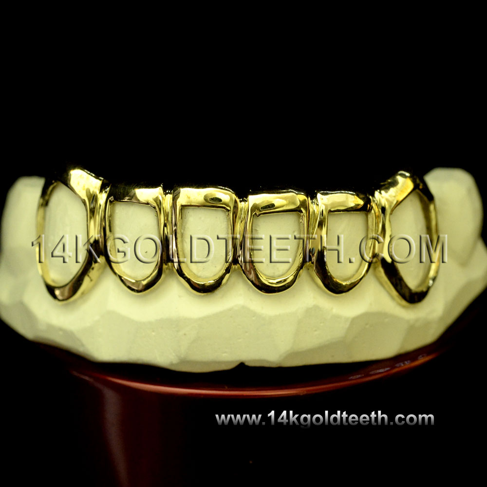 Bottom Yellow Gold Teeth Grillz - BY 20010