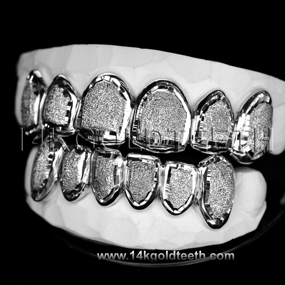 Top & Bottom Silver Grillz - TBS 30312