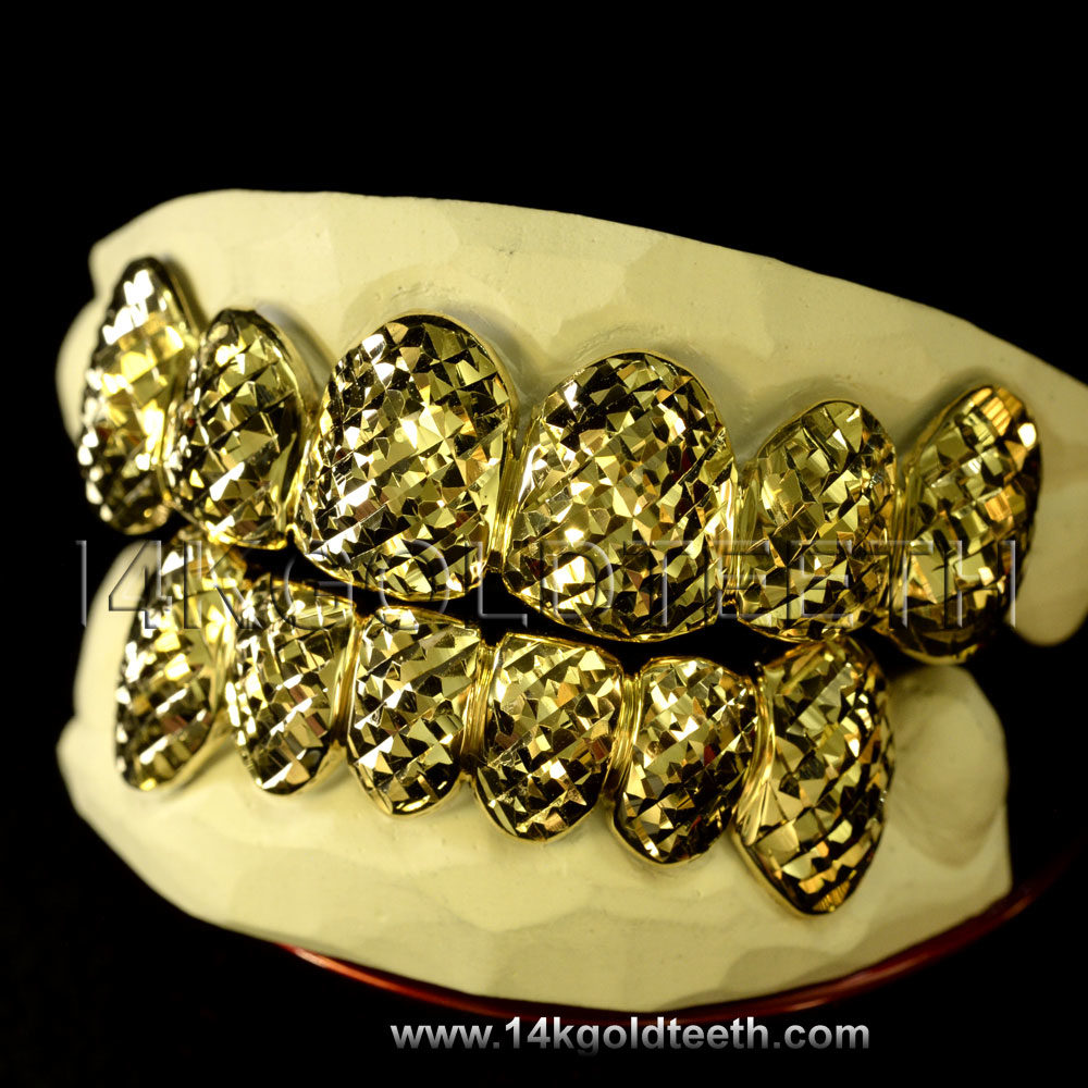Top Yellow Gold Teeth Grillz - TY 10008
