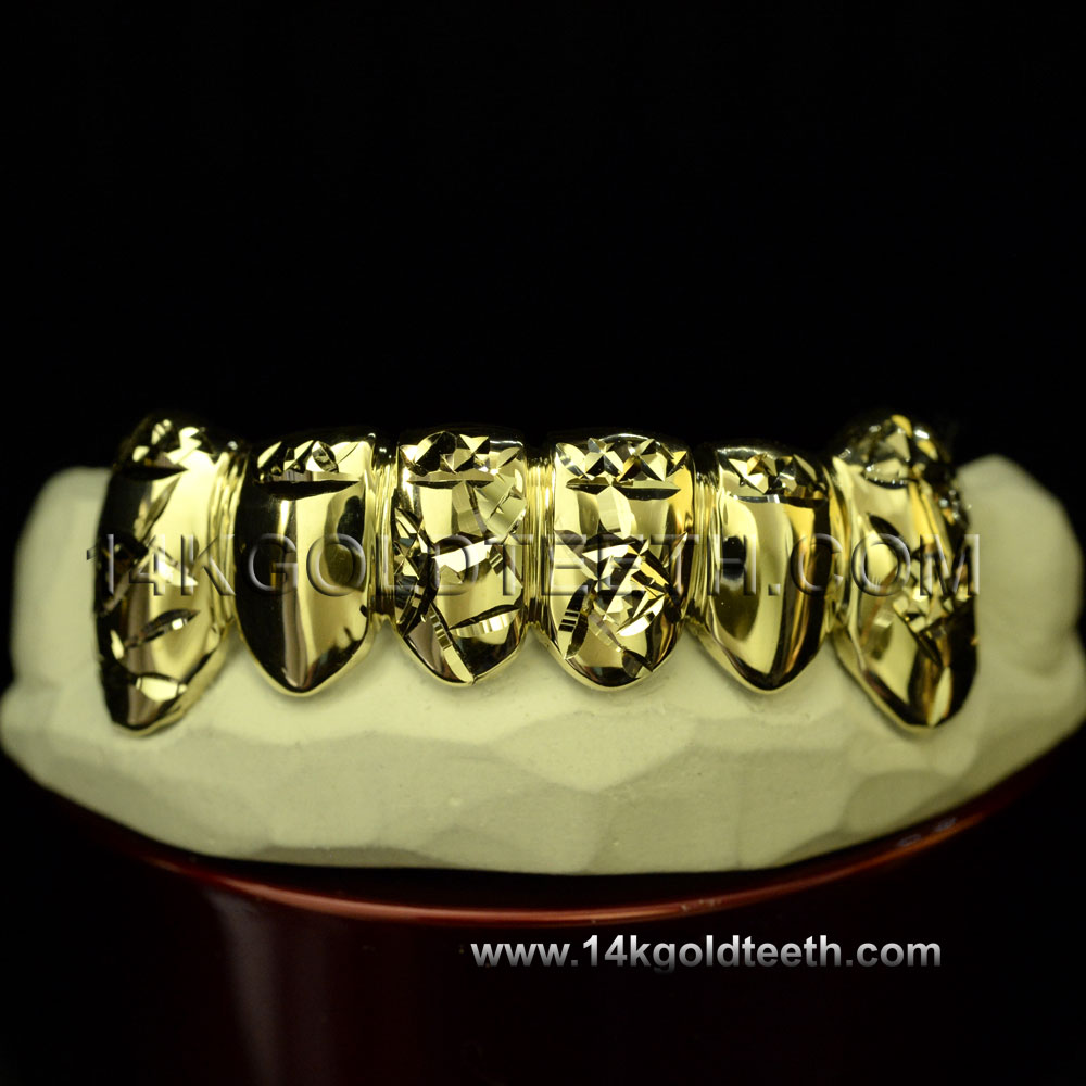 Bottom Yellow Gold Teeth Grillz - BY 20006