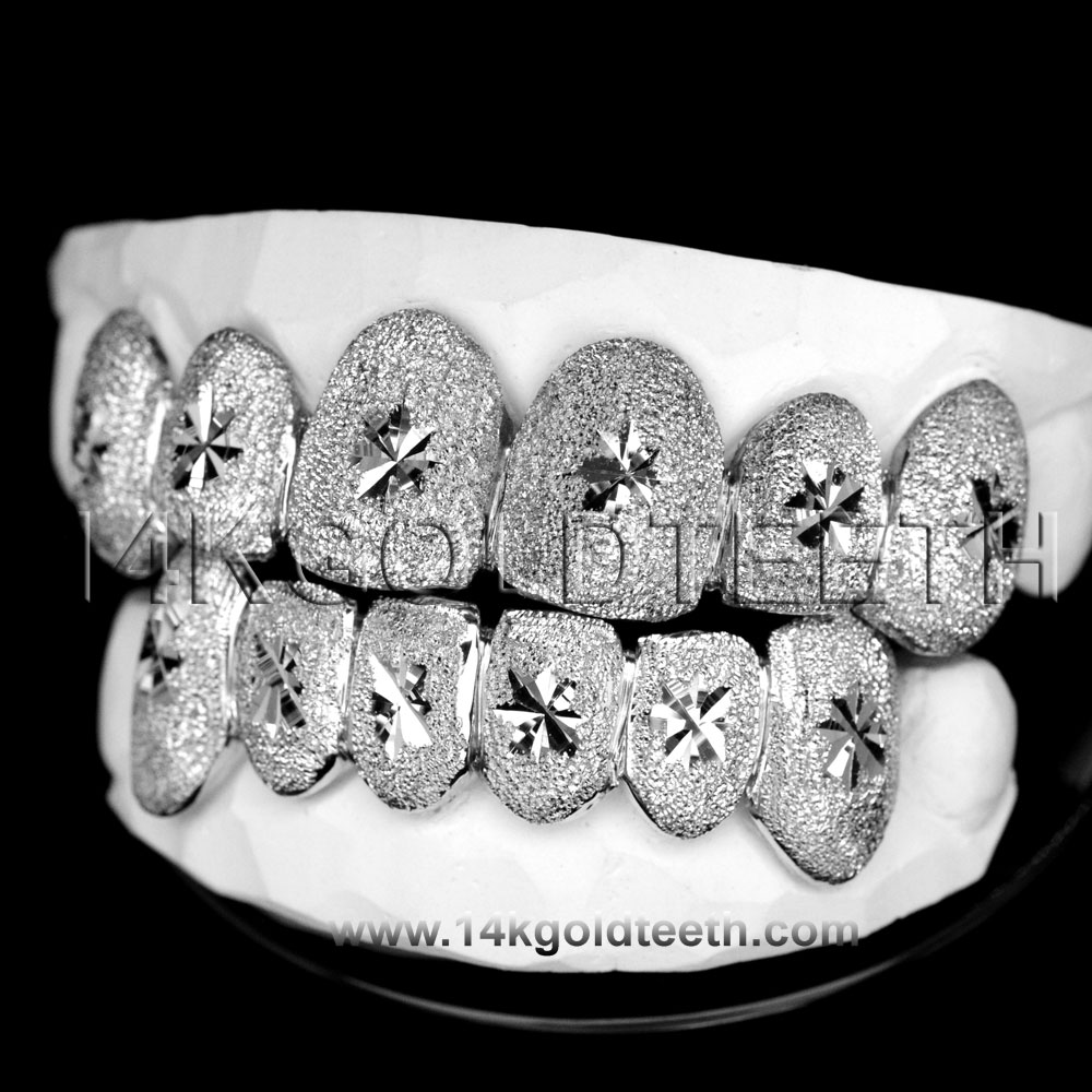 Top & Bottom Silver Grillz - TBS 30308