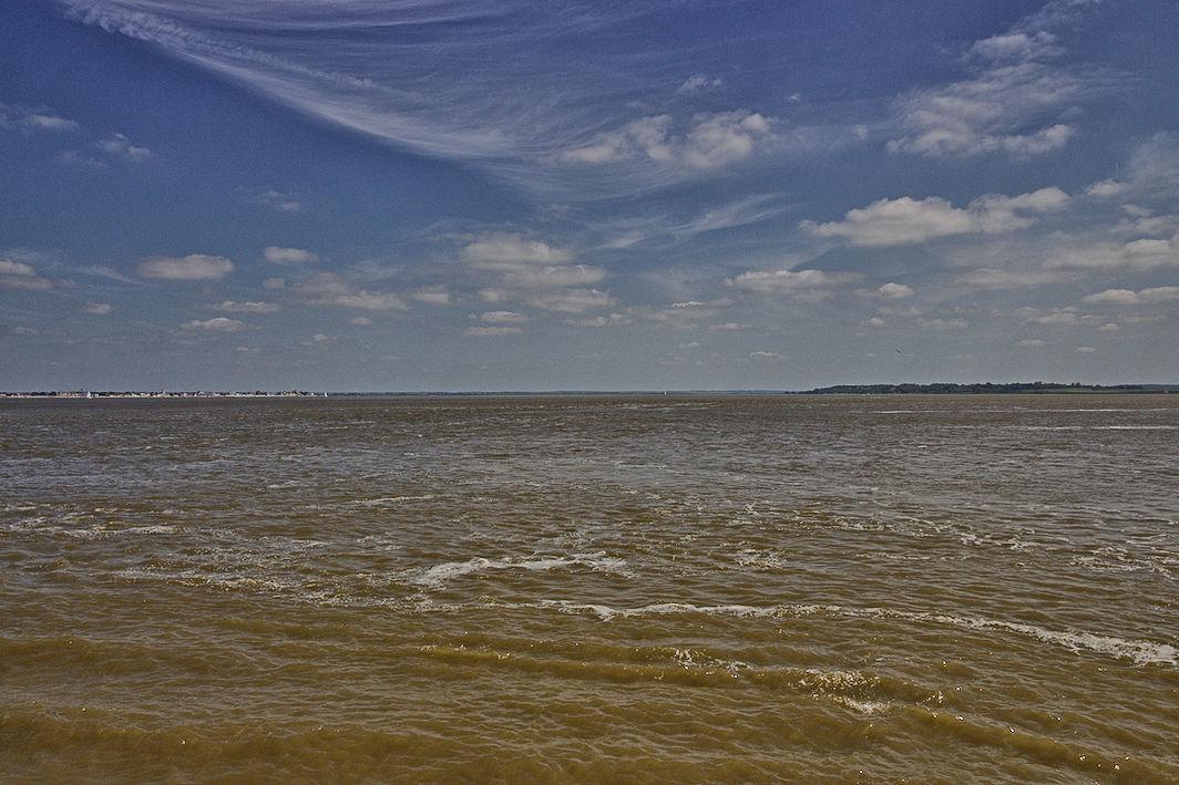 Somme-Bucht Flut