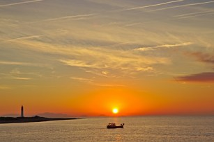 Sonnenaufgang in Carro