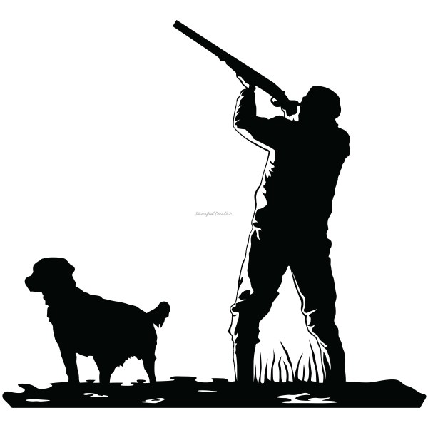 Duck Hunting Decals with Dog