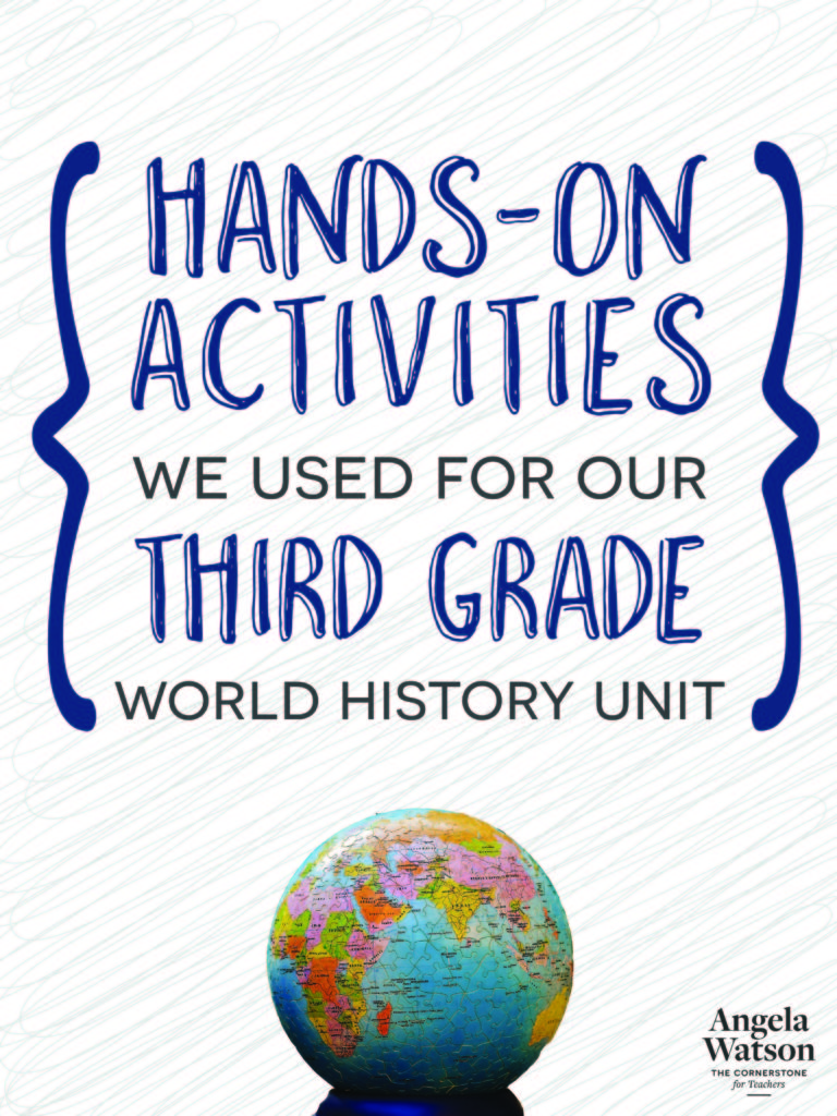 hight resolution of Hands-on activities we used for our third grade world history unit