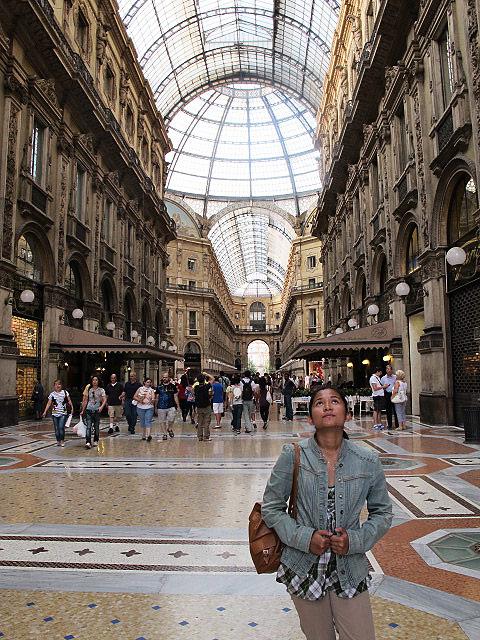 Inside the Galleria Vittorio Emmanuele II