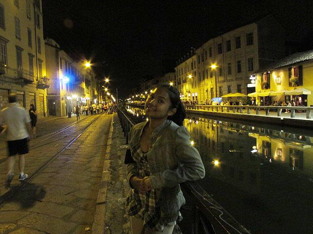 Night time in Milan