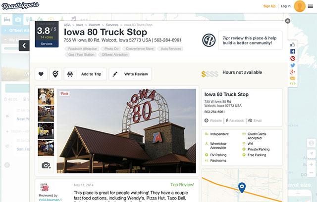 Roadtrippers Spot Information