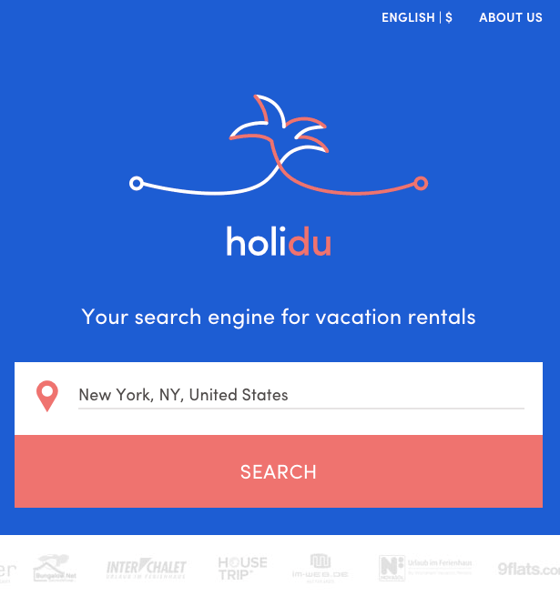 Holidu Search Mobile View