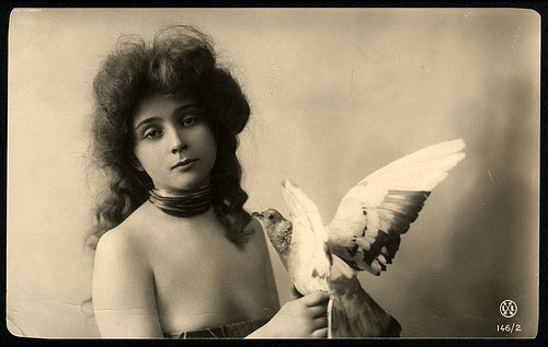 They're beautiful! Thank you my dear. :) billyjane: Girl with a Bird via heyjupiter21