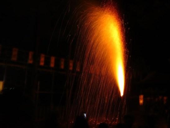 犀川神社秋祭り➌、杜煙火保存会による花火