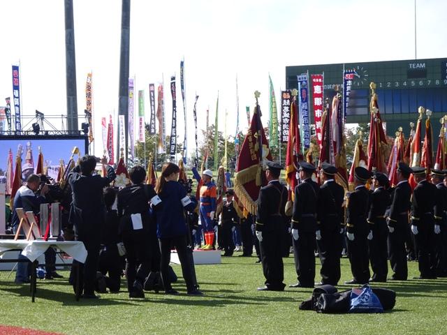 開会式、選手宣誓の場面