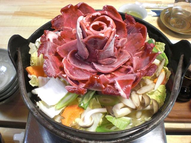 イノシシ「牡丹鍋」