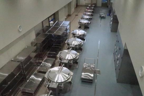 調理室…一つの釜で1000人分のおかずが調理ができます
