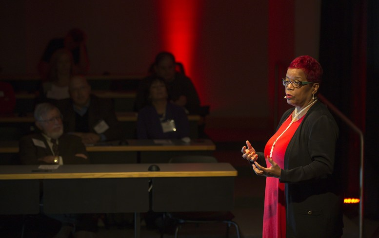 "Danae Davis '80 presented ""Where Passion and Law Meet"" at UWLawTalks. The executive director of Milwaukee Succeeds, she's devoted to quality care for every child."