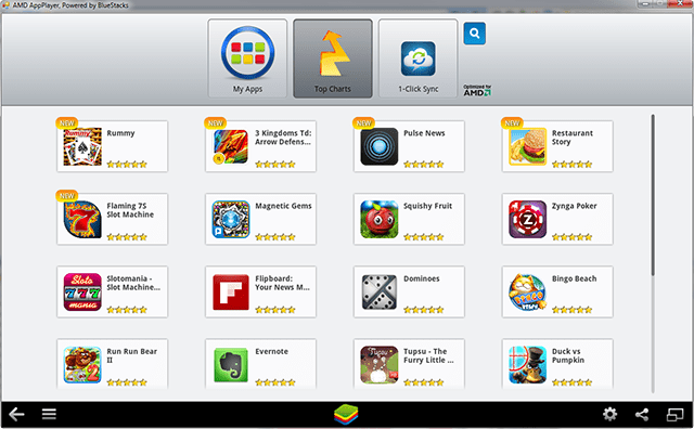 PC 上用 Android Apps - BlueStacks / AMD App Player
