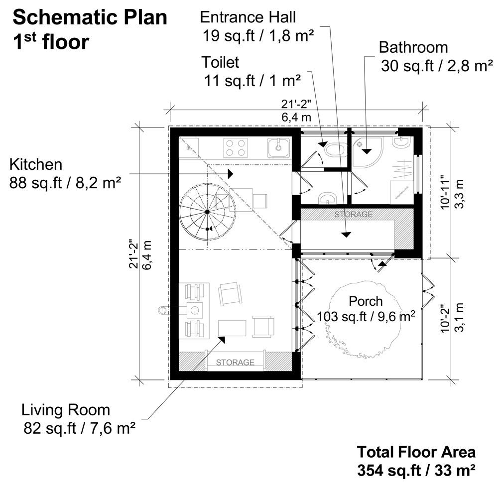 Small Atrium House Plans