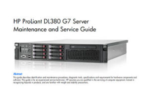 Manual Proliant DL380 G7