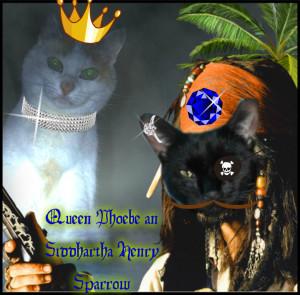 Purrince Captinn Siddhartha Henry an Queen Phoebe