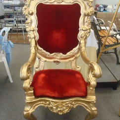 Throne Chairs For Rent Top Rated High Chair Booster Seats Santa Claus Av Party Rental