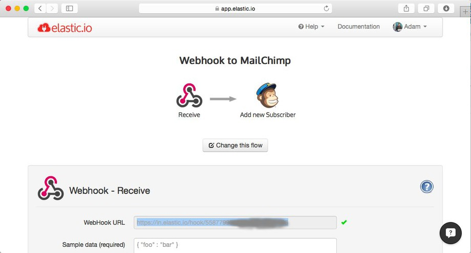 SAP integration solution with Webhooks and JSON via elastic.io