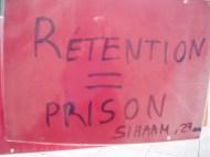 Acción en Rennes. Traducción: Internamiento = prisión.